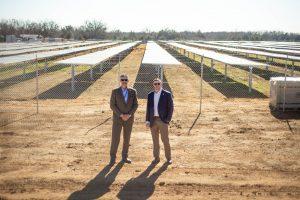 Patrick Grace and Dr. Nick Miglirino at the OEC and Norman Public Schools Solar Farm